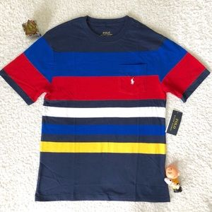 Ralph Lauren Striped Shirt Boys Large New Tag